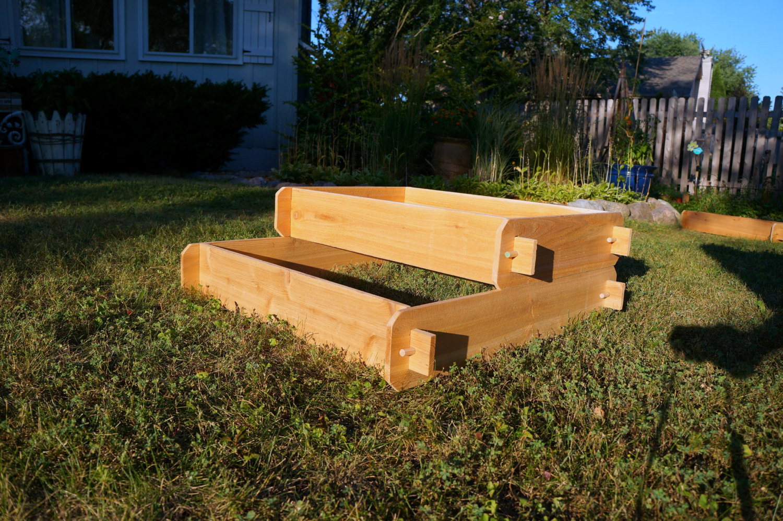 Garden Raised Bed Planter Flower Box Cedar Vegetable Kit Outdoor Elevated Herb