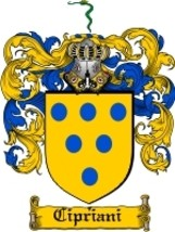 Cipriani Family Crest / Coat of Arms JPG or PDF Image Download - $6.99