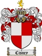 Cisney Family Crest / Coat of Arms JPG or PDF Image Download - $6.99