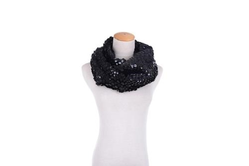 Elle Unique new snakeskin look finish wrap around boa style scarf black colored