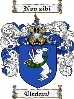 Primary image for Cleeland Family Crest / Coat of Arms JPG or PDF Image Download