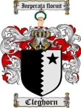 Cleghorn Family Crest / Coat of Arms JPG or PDF Image Download - $6.99