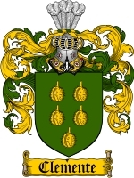 Primary image for Clemente Family Crest / Coat of Arms JPG or PDF Image Download