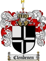 Primary image for Clendenen Family Crest / Coat of Arms JPG or PDF Image Download