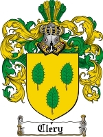 Primary image for Clery Family Crest / Coat of Arms JPG or PDF Image Download