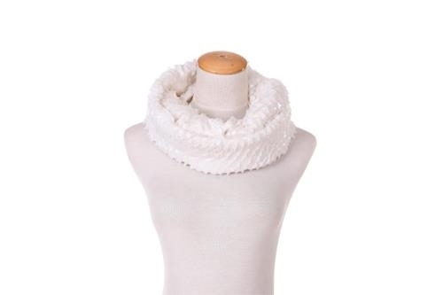 Elle Unique new snakeskin look finish wrap around boa style scarf white colored