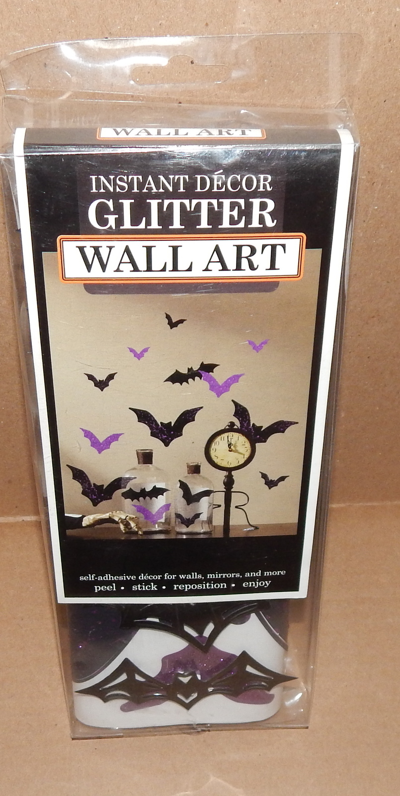"Primary image for Halloween Dimensional Wall Art 5ea Bats Purple 27 x10"" Peel Stick Reposition 71L"