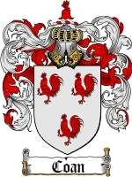 Coan Family Crest / Coat of Arms JPG or PDF Image Download