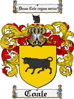 Coale Family Crest / Coat of Arms JPG or PDF Image Download