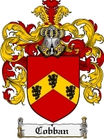 Primary image for Cobban Family Crest / Coat of Arms JPG or PDF Image Download