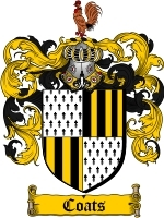 Coats Family Crest / Coat of Arms JPG or PDF Image Download