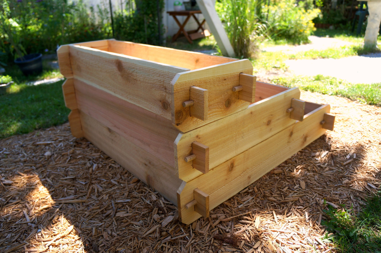 Raised Bed Patio Garden Planter Flower Box Herb Elevated Vegetable Outdoor Cedar