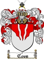 Primary image for Coes Family Crest / Coat of Arms JPG or PDF Image Download
