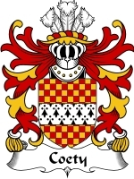 Coety Family Crest / Coat of Arms JPG or PDF Image Download