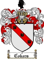 Cokers Family Crest / Coat of Arms JPG or PDF Image Download