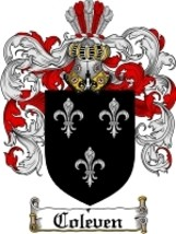 Coleven Family Crest / Coat of Arms JPG or PDF Image Download - $6.99