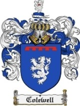 Colewell Family Crest / Coat of Arms JPG or PDF Image Download - $6.99