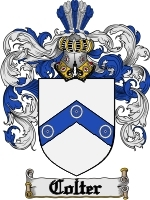 Primary image for Colter Family Crest / Coat of Arms JPG or PDF Image Download