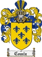 Primary image for Comiz Family Crest / Coat of Arms JPG or PDF Image Download