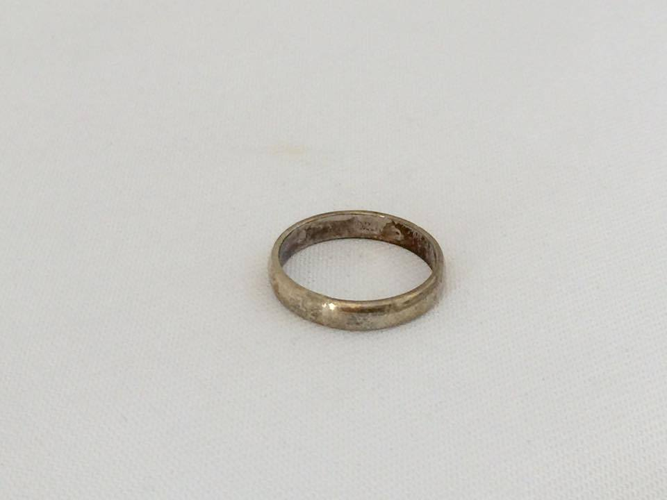 Vintage Sterling Silver Band Ring Size 8
