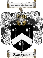 Primary image for Congrave Family Crest / Coat of Arms JPG or PDF Image Download