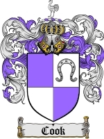 Primary image for Cook Family Crest / Coat of Arms JPG or PDF Image Download