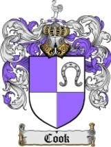 Cook Family Crest / Coat of Arms JPG or PDF Image Download - $6.99