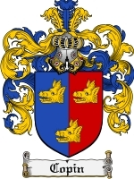 Primary image for Copin Family Crest / Coat of Arms JPG or PDF Image Download