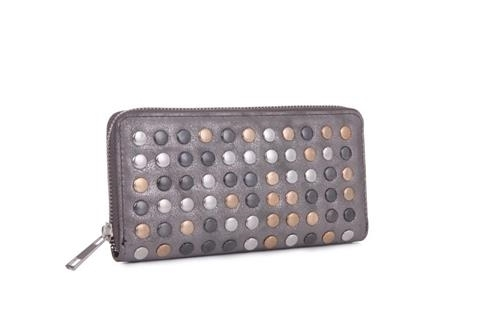 Primary image for Katya Metallic Wallet Clutch in Silver accents