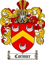 Primary image for Cormier Family Crest / Coat of Arms JPG or PDF Image Download