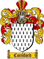 Cornford Family Crest / Coat of Arms JPG or PDF Image Download