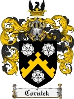 Primary image for Cornick Family Crest / Coat of Arms JPG or PDF Image Download