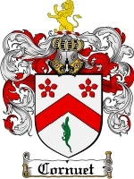 Primary image for Cornuet Family Crest / Coat of Arms JPG or PDF Image Download