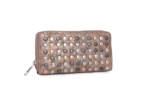 Gold katya wallet clutch