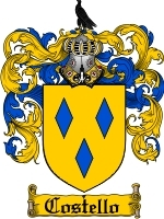 Primary image for Costello Family Crest / Coat of Arms JPG or PDF Image Download