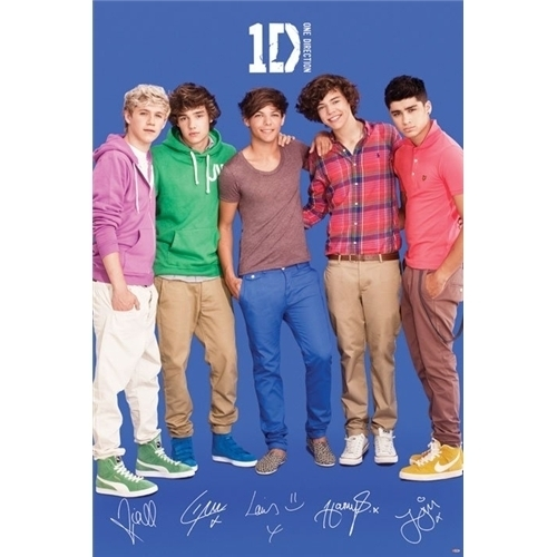 One Direction 1D Poster Printed Signatures Official Harry Zayn Niall Liam Louis