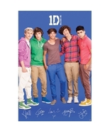 One Direction 1D Poster Printed Signatures Offi... - $9.99