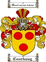 Courteney Family Crest / Coat of Arms JPG or PDF Image Download