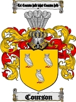 Primary image for Courson Family Crest / Coat of Arms JPG or PDF Image Download