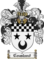 Cousland Family Crest / Coat of Arms JPG or PDF Image Download