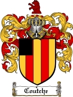 Primary image for Coutche Family Crest / Coat of Arms JPG or PDF Image Download