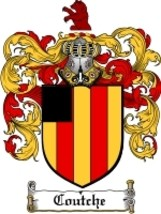 Coutche Family Crest / Coat of Arms JPG or PDF Image Download - $6.99