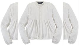 Ralph Lauren Girls' Boho-Inspired Knit Shirt, Cream, Size M(8-10) - $22.76