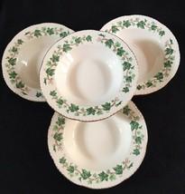Homer Laughlin Liberty HLC39 Green Ivy Set of 4 Rim Pasta Soup Salad Bowls - $24.99