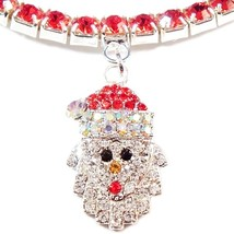 Anklet Santa Claus Red Crystal Charm Dangle Stretch 9 Inch Christmas Style #1 - $21.99