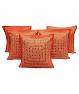 Decorative Square Decorative Pillow Cotton Chic Cushion Cover Set of 5 - $29.82