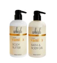 WHISH Honey Vanilla Body Butter & Body Wash, 16.5 fl oz each