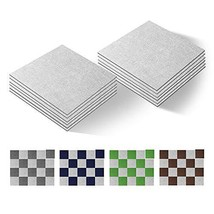 "Version Self Adhesive Carpet Floor Peel Tile Square 10 Pcs 10"" x 10"" Anti-Slip N"