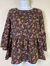 Time and Tru Women Size M Colorful Floral Tunic Blouse Layered Bottom Po... - $11.88