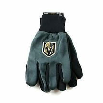 FOCO NHL Vegas Golden Knights Embroidered Utility Gloves Pr. One Size Fi... - $9.89